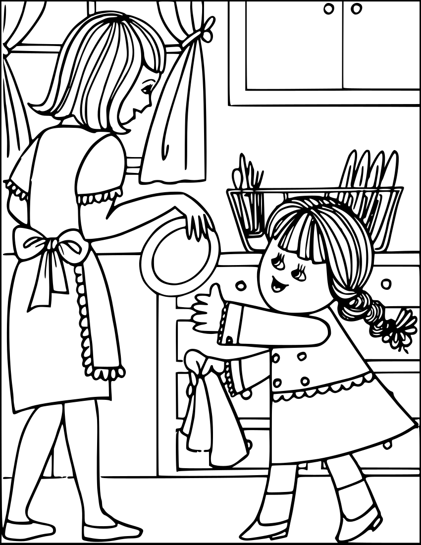 Household Chores Clipart Black And White.