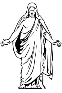 Jesus clip art black and white free clipart image 3 2.