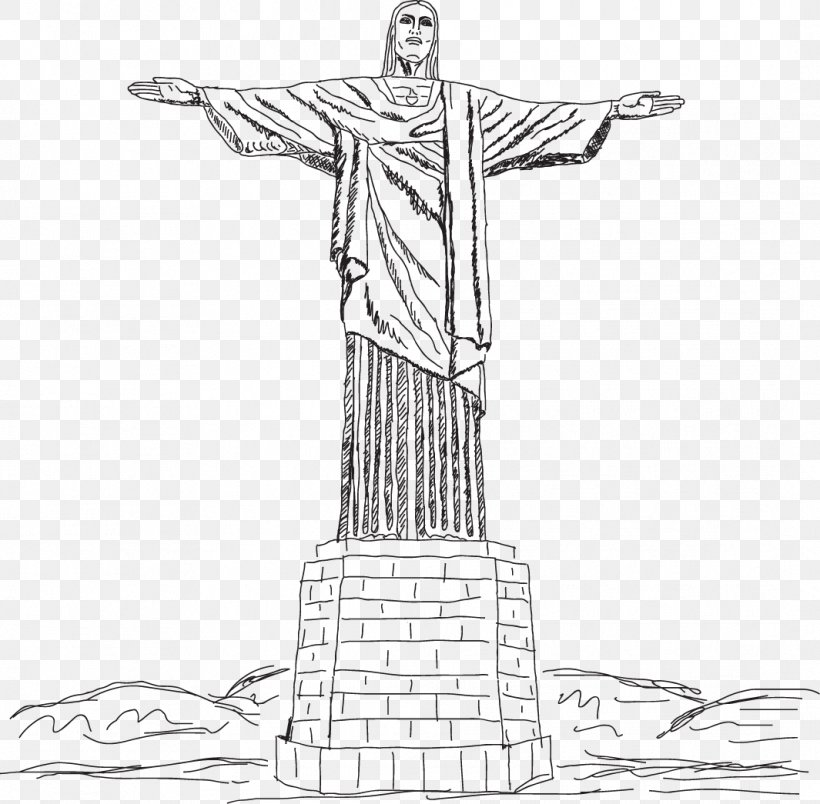 Christ The Redeemer Corcovado Clip Art, PNG, 1065x1045px.