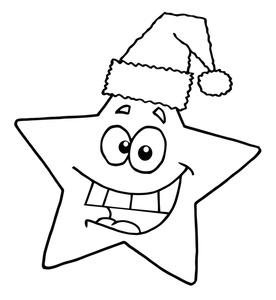 Christmas Star Clip Art Black And White.