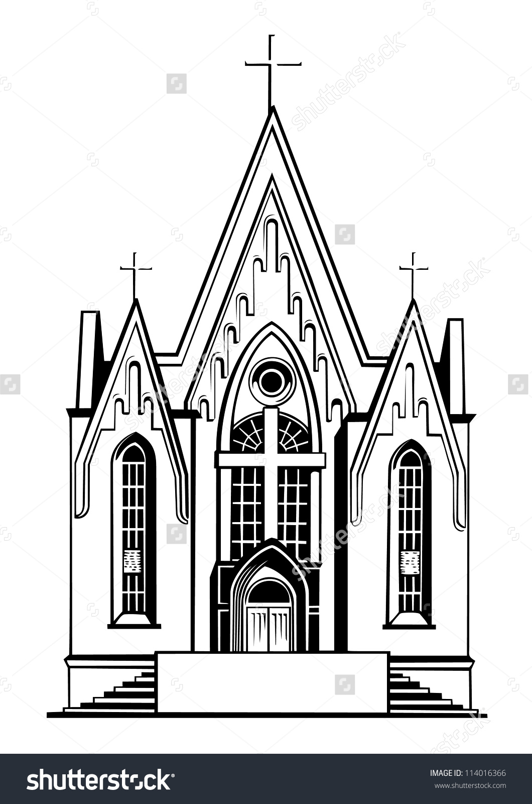 Church black and white clipart 5 » Clipart Station.