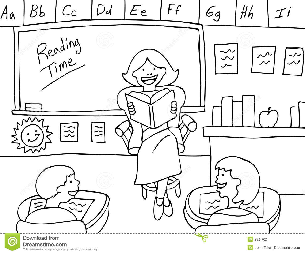 Black And White Classroom Clipart.