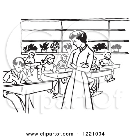 Class Clipart Black And White.