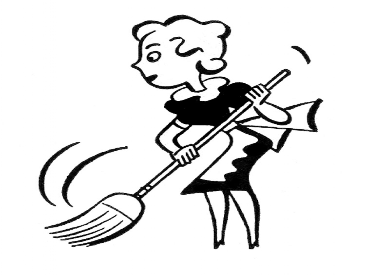 Free Cleaning Clip Art Black And White, Download Free Clip.