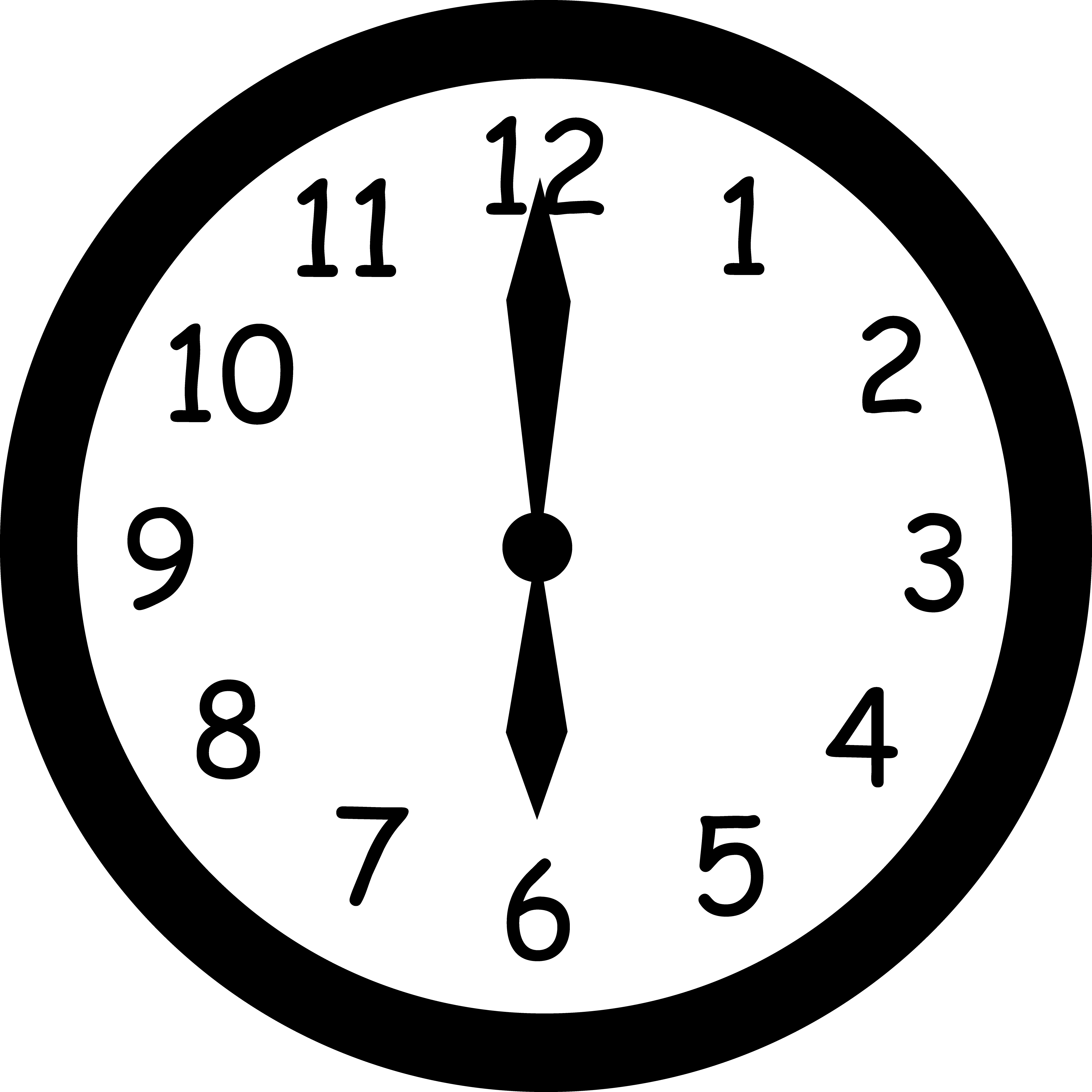 Clock Clipart Black And White.
