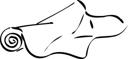 Fabric Roll clip art free vector.