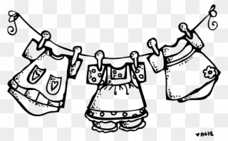Clothes Clipart Black And White 2.