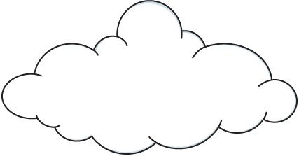 Cloud Clip Art Black And White Free Clipart Images.