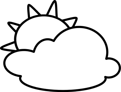 Cloudy Weather Clipart Black And White.