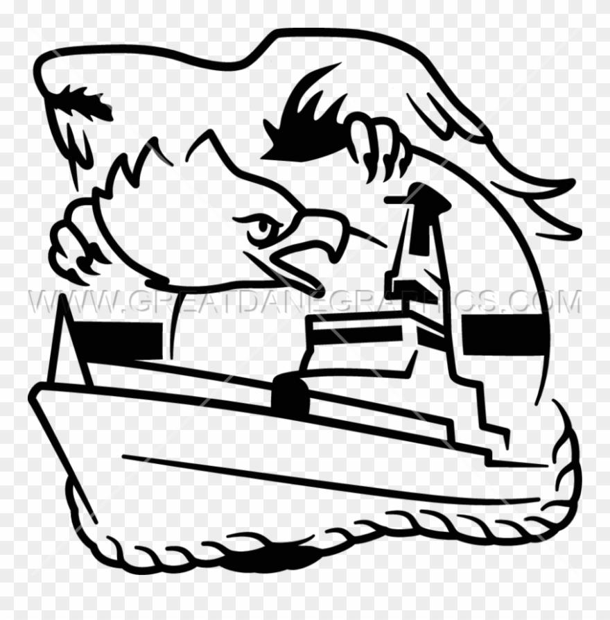 Coast Guard Eagle Production Ready Artwork For T Shirt.