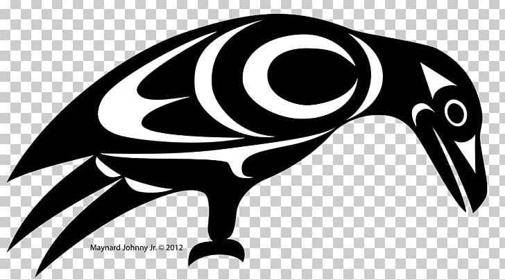Black And White Crow Coast Salish Art PNG, Clipart, Animals.