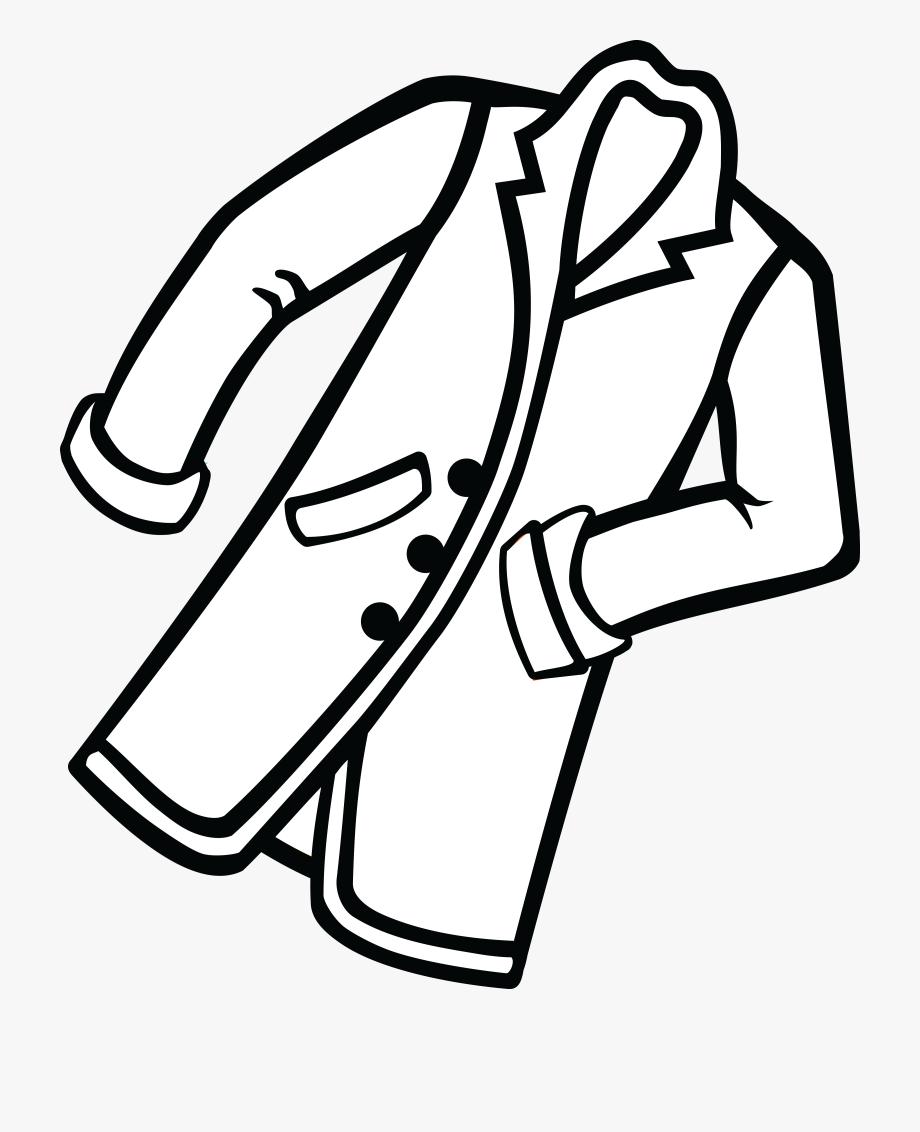 Clipart Of Coat, Black Coat And Closet.