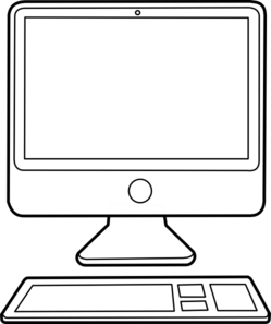 Black And White Clipart Computer.
