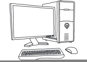Computer Clipart Images Black And White.