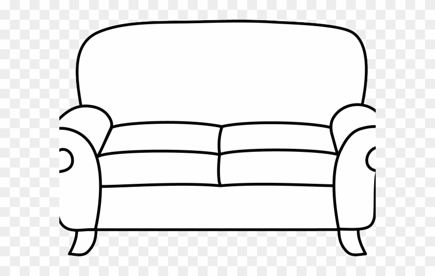 Sofa Clipart Comfy Couch.