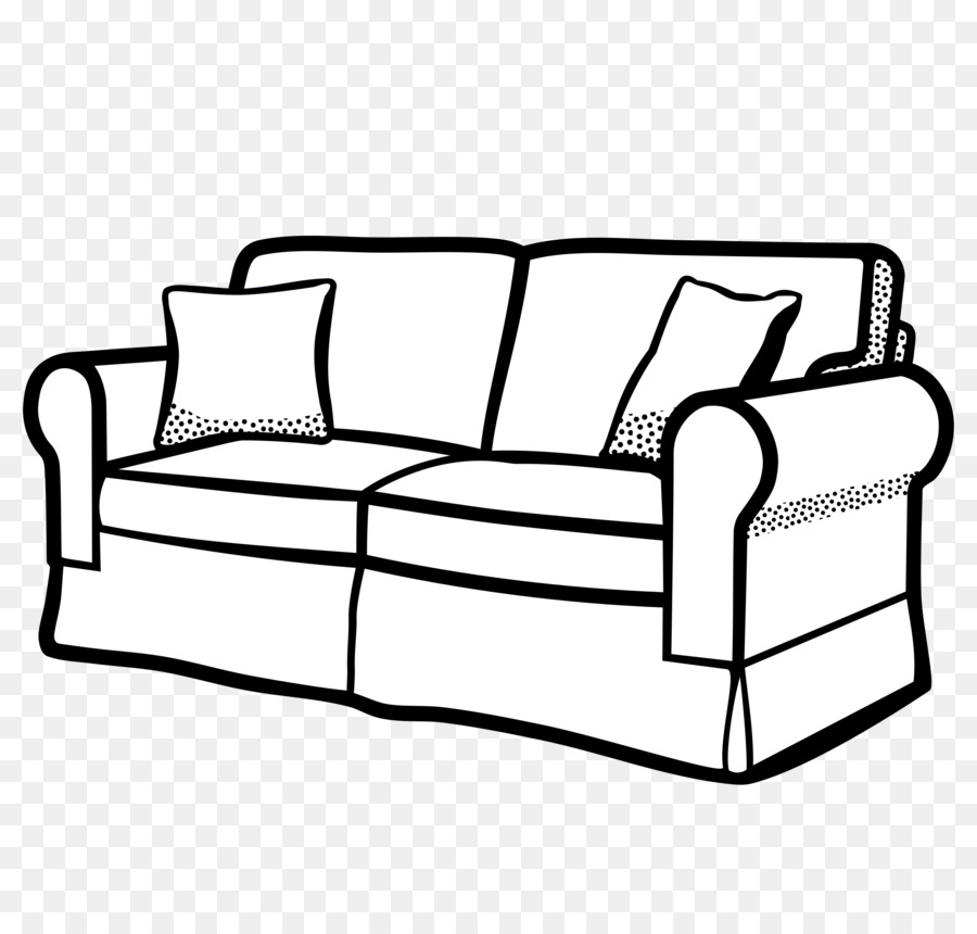 Couch clipart black and white 1 » Clipart Station.