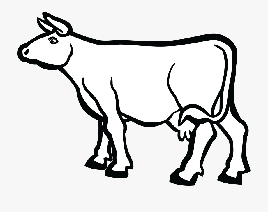 Free Cow Clipart Black And White.