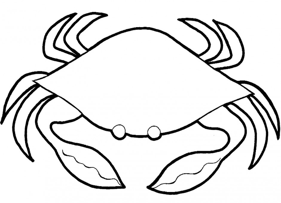 Crab black and white clipart » Clipart Station.