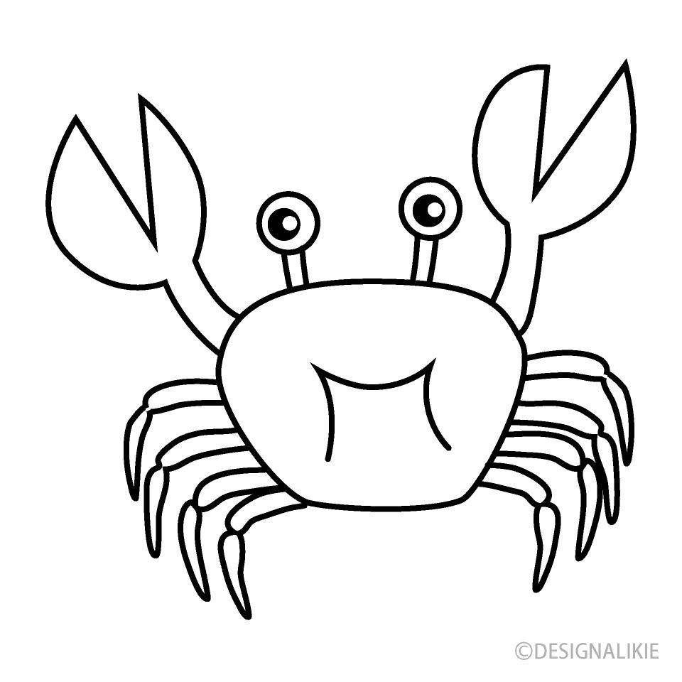 Free Crab Black and White Image Illustoon.