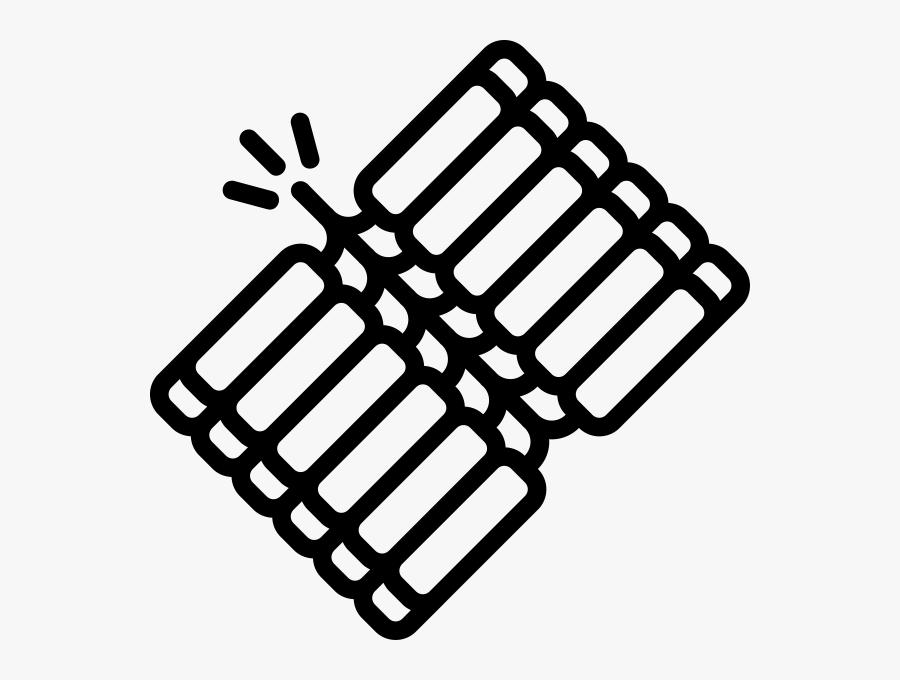Transparent Firecracker Clipart Black And White.