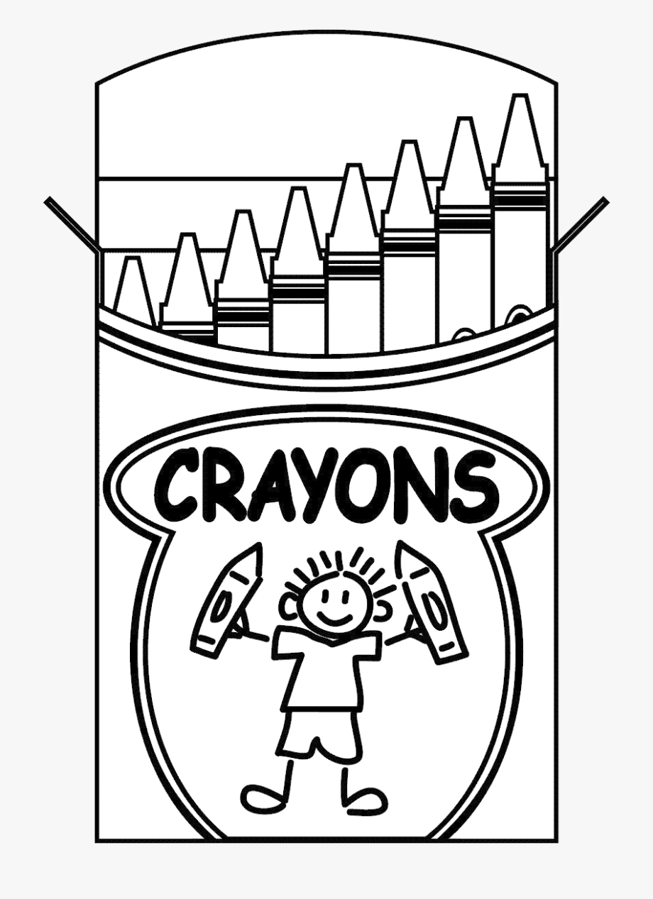 Crayons Clipart Black And White , Transparent Cartoon, Free.