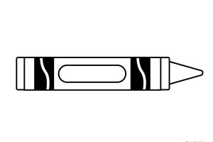 Crayon Clipart Black And White.