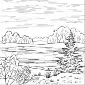 black and white creek and river clip art.