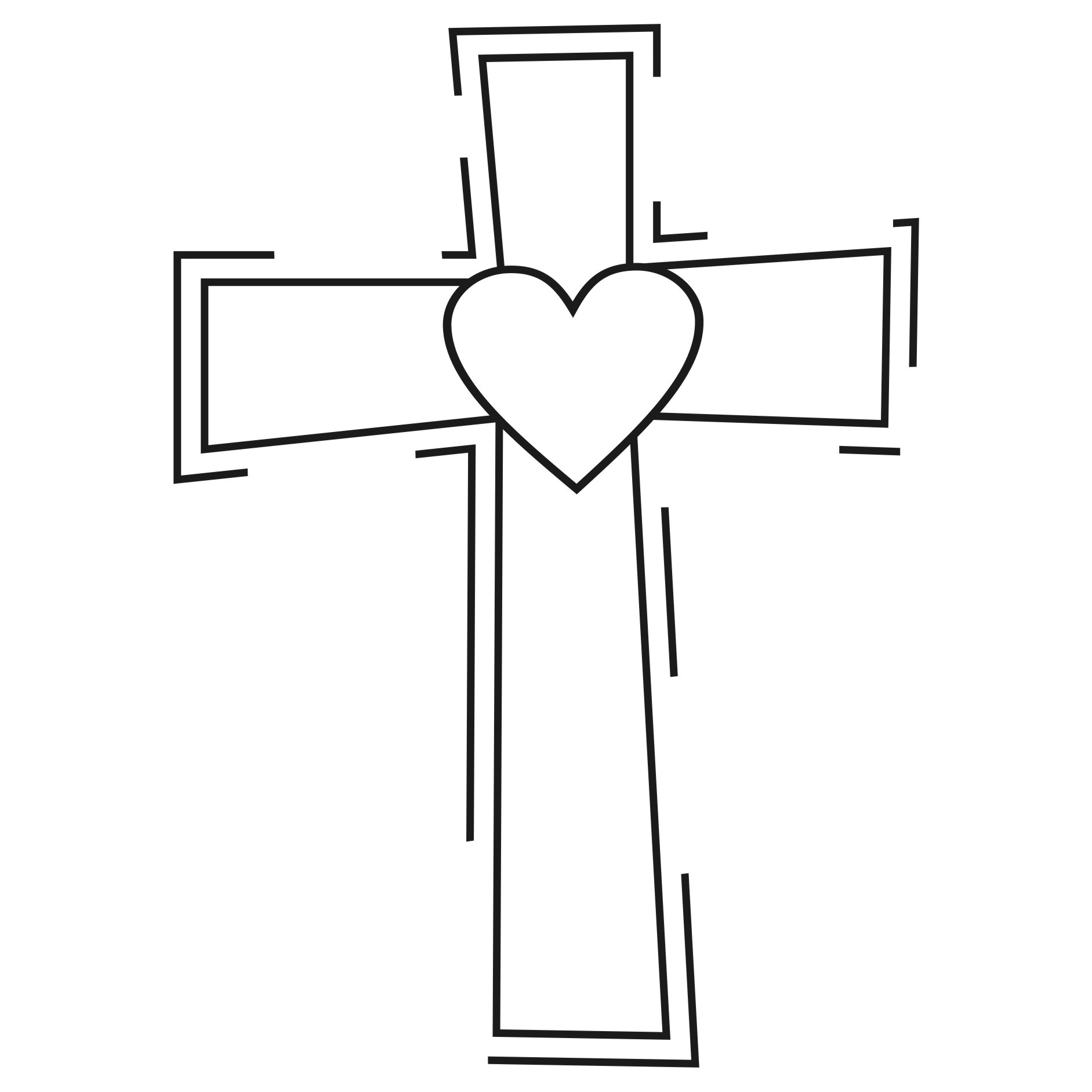 Cross Black And White Clipart.