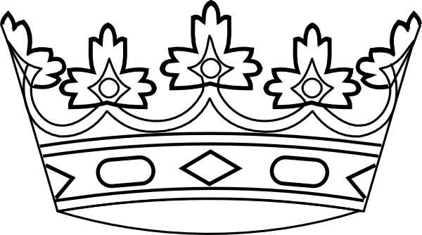 77 Crown Black And White free clipart.