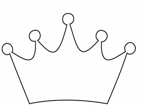 Black And White Clipart Crown.