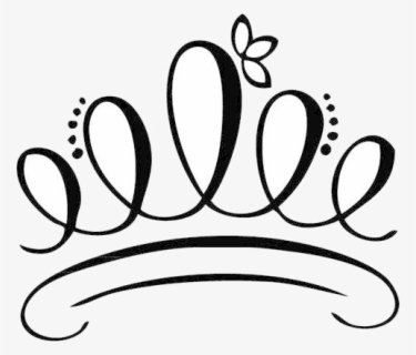 Free Princess Crown Black And White Clip Art with No.