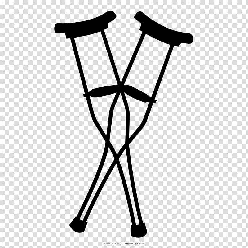 Crutch Coloring book Drawing Walker, crutch transparent.
