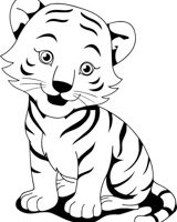 Cub clipart black and white 5 » Clipart Station.