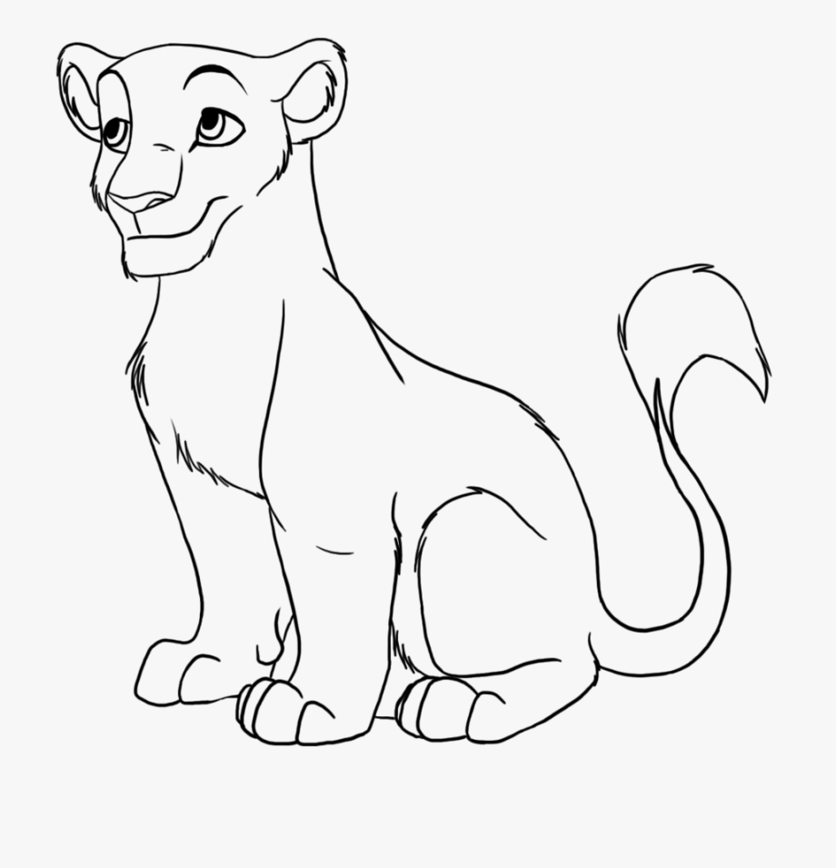 Lion Line Drawing.