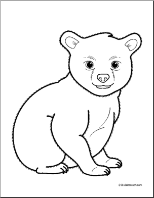 Free Cub Clipart Black And White, Download Free Clip Art.