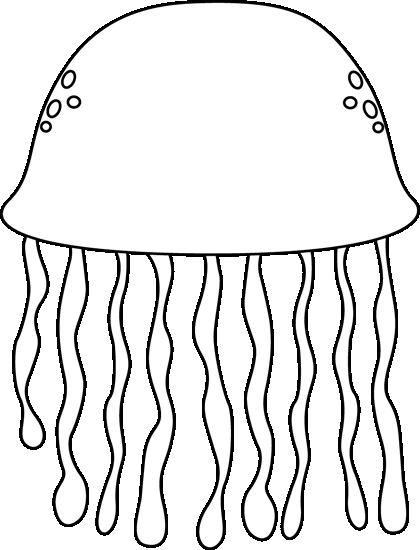 Black and White Black and White Jellyfish.