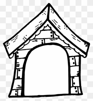 Free PNG House Black And White Clip Art Download.