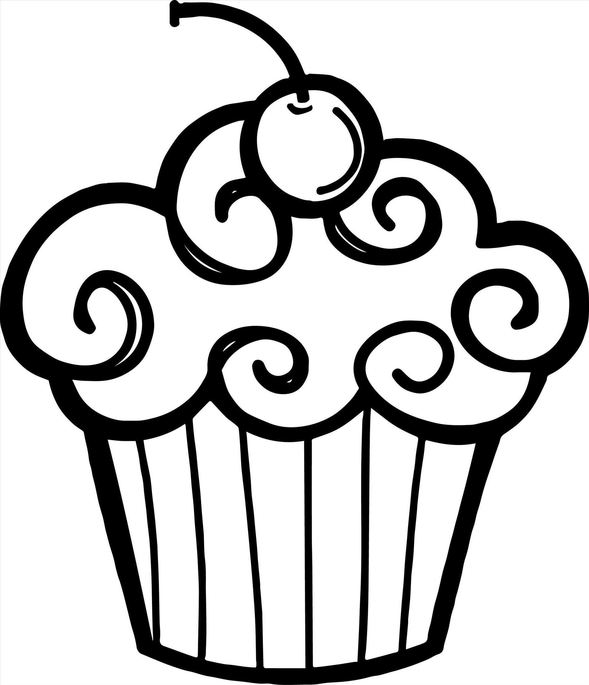 Cupcake clipart black and white 6 » Clipart Station.