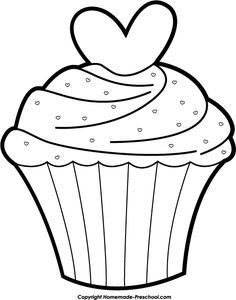 Cupcake Black And White Clipart.