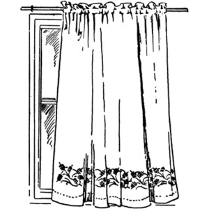 Free Curtain Clipart Black And White, Download Free Clip Art.