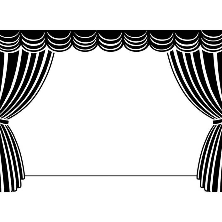 Theatre Stage Clipart Black And White.