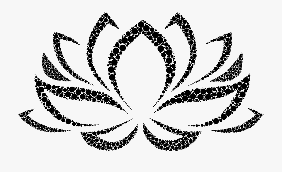 Lotus Flower Clipart Black And White.