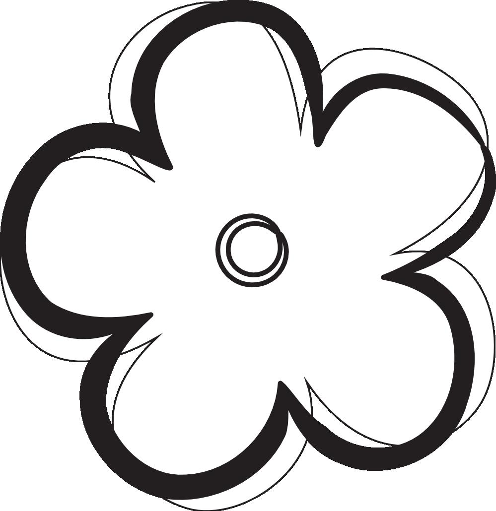 Images For > Black And White Flower Logo.