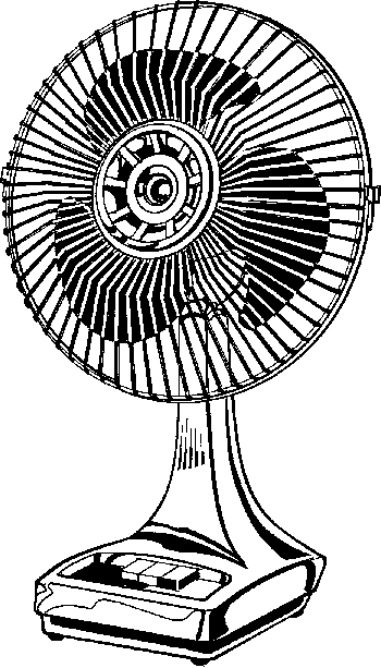 Fan black and white clipart 1 » Clipart Station.