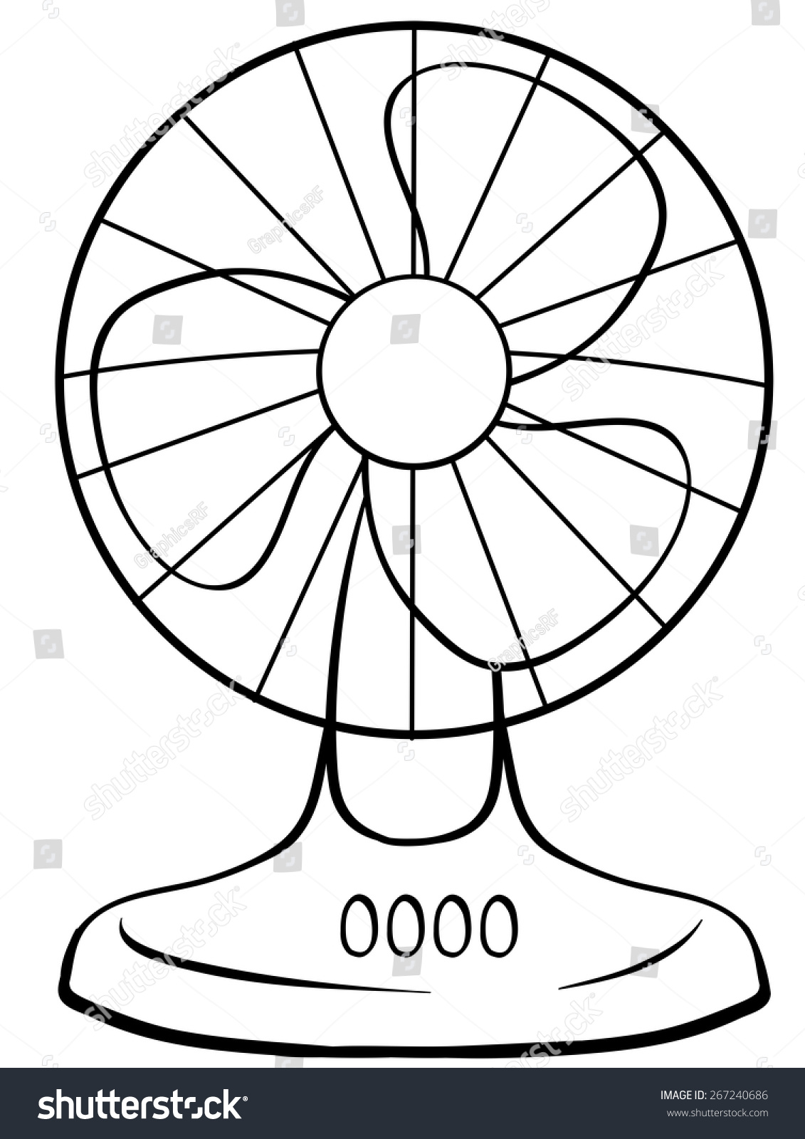 Fan Clipart Black And White.