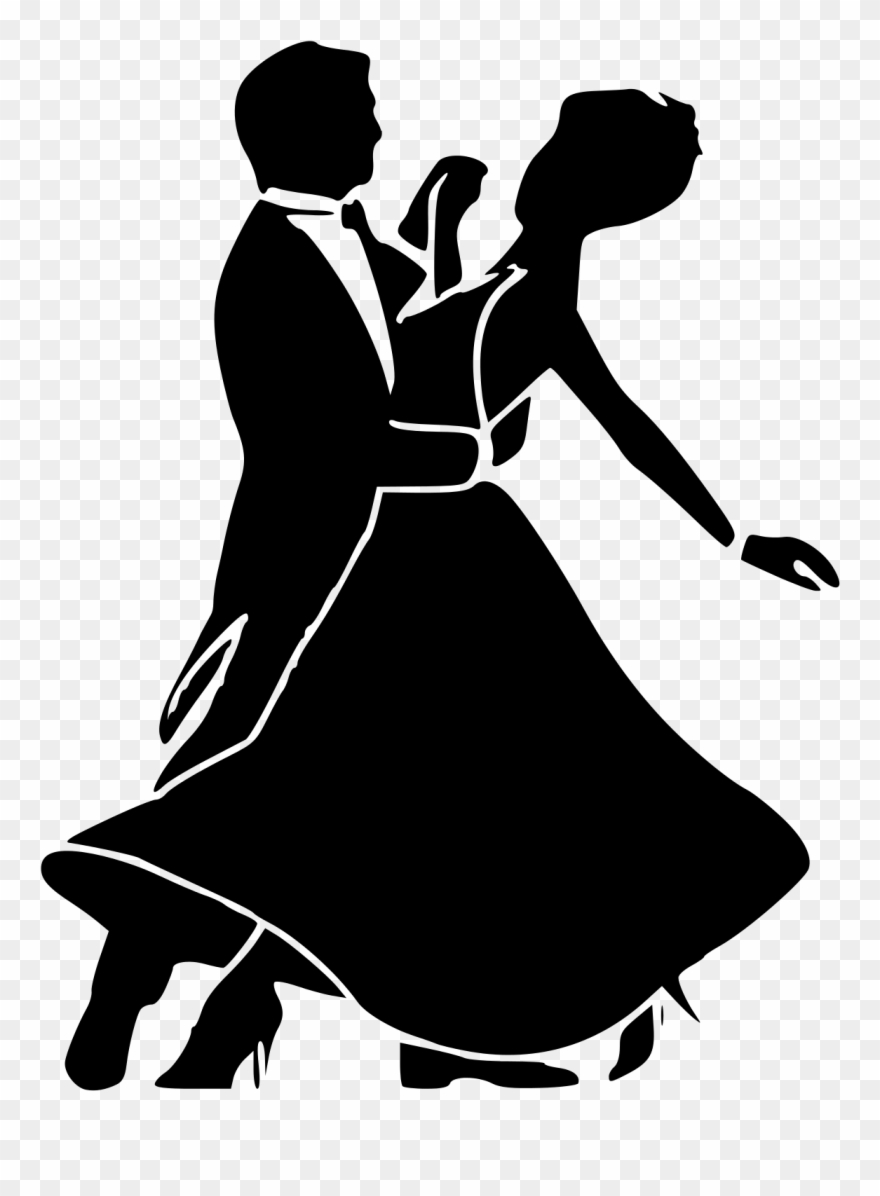 Svg Black And White Download Dancers Silhouette At.