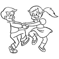 Dance Black And White Clipart.