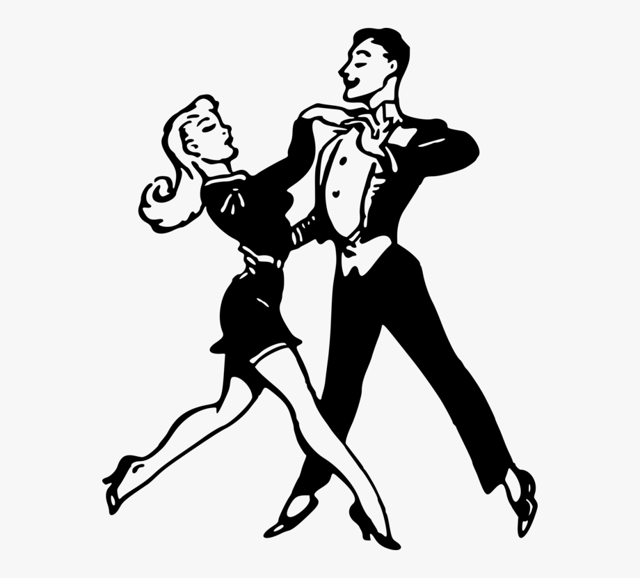 Black And White Dance Drawing Performing Arts.