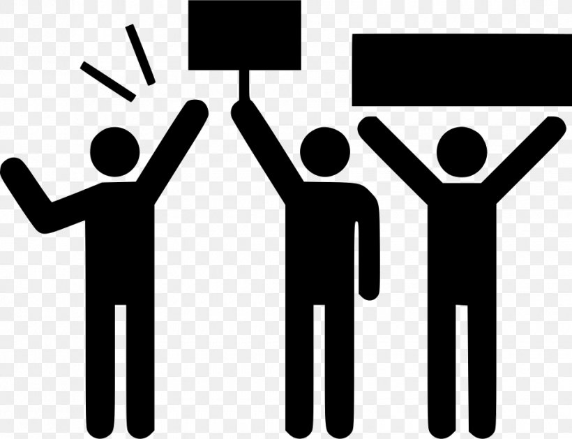 Protest Vector Graphics Pictogram Demonstration, PNG.