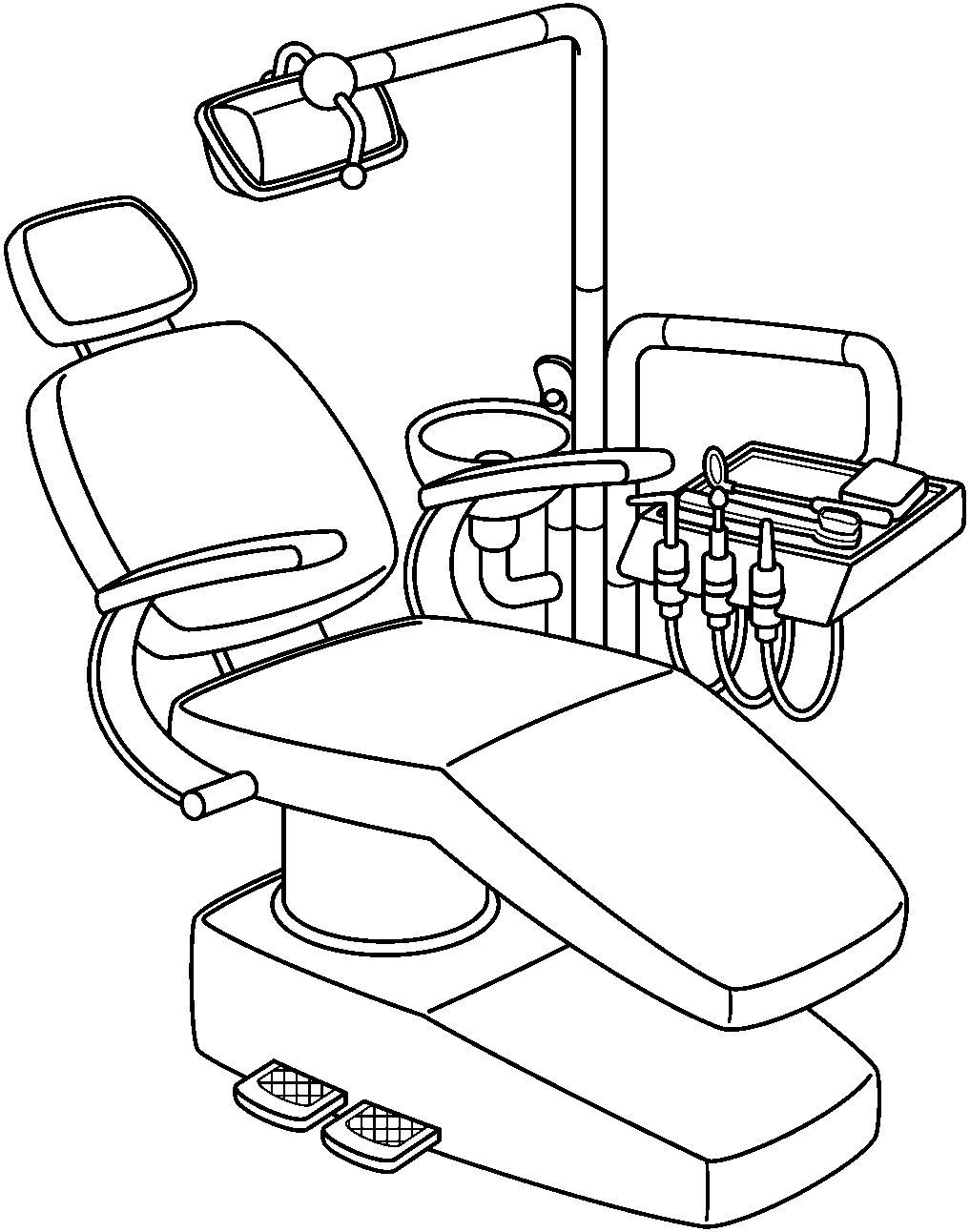 Dentist Tools Clipart Black And White.